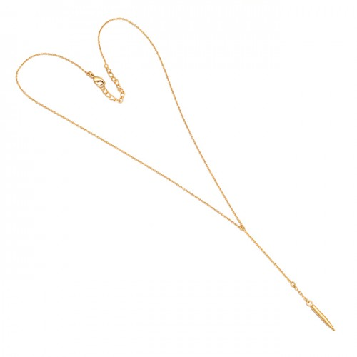 Designer Plain Handmade 925 Sterling Silver Gold Plated Necklace Jewelry