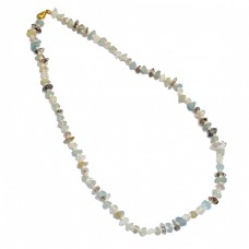 Multi Tourmaline Raw Rough Gemstone 925 Sterling Silver Gold Plated Necklace Jewelry