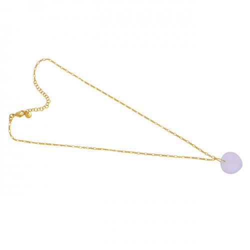 925 Sterling Silver Jewelry Rainbow Moonstone Gold Plated Necklace