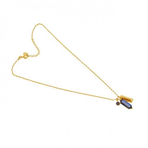 Labradorite Smoky Qaurtz Gemstone 925 Silver Jewelry Necklace