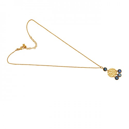Round Shape Labradorite Gemstone 925 Sterling Silver Jewelry Necklace
