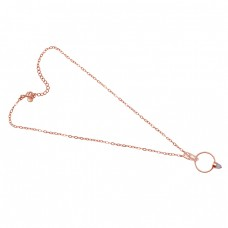 Pencil Shape   Moonstone 925 Sterling Silver Jewelry Gold Plated Necklace