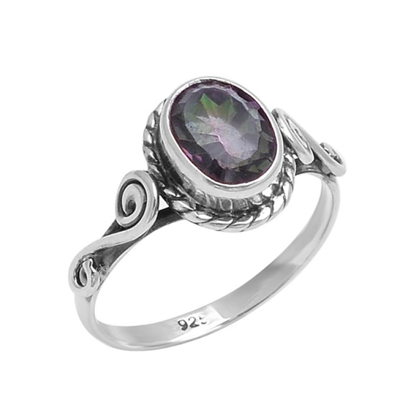 Oval Shape Smoky Quartz Gemstone 925 Sterling Silver Fashionable Designer Ring