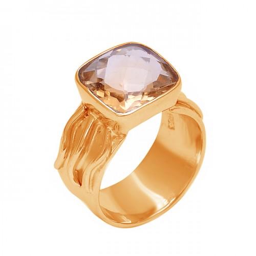 Cushion Shape Citrine Gemstone 925 Sterling Silver Designer Ring Jewelry