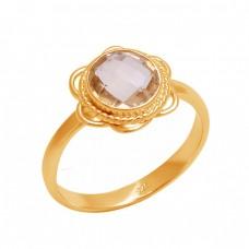 Briolette Round Shape Citrine Gemstone 925 Sterling Silver Designer Ring