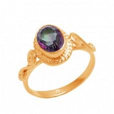 Oval Shape Mystic Topaz Gemstone 925 Sterling Silver Handmade Designer Ring