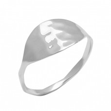Unique Handcrafted Designer Plain 925 Sterlig Silver Hammered Ring Jewelry