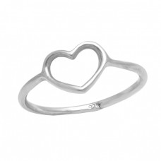 Heart Shape Plain Designer Unique 925 Sterling Silver Ring Jewelry