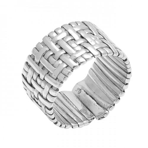 Handmade Designer Plain Stylish 925 Sterling Silver Ring Jewelry