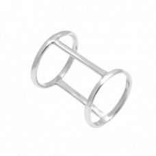 Unique Handcrafted Designer Plain 925 Sterlig Silver Stylish Ring Jewelry