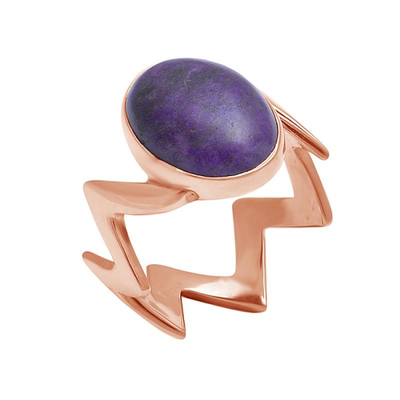 Oval Cabochon Amethyst Gemstone 925 Sterling Silver Handmade Band Designer Ring