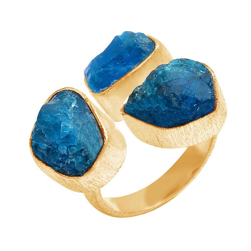 925 Sterling Silver Apatite Rough Gemstone Handmade Designer Ring