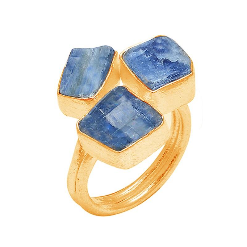 925 Sterling Silver Blue Kyanite Rough Gemstone Handcrafted Designer Ring