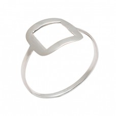 Handmade Stylish Plain Designer 925 Sterling Silver Ring Jewelry
