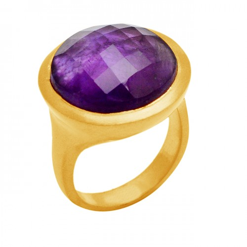 925 Sterling Silver Natural Purple Amethyst Gemstone Handcrafted Ring Jewelry