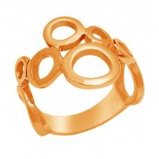 925 Sterling Silver Plain Handmade Designer Gold  Ring Jewelry