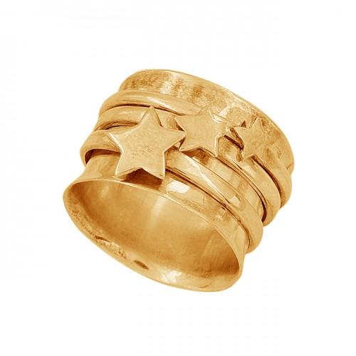 925 Sterling Silver Plain Handmade Designer Spinner Ring Jewelry