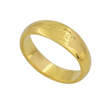 925 Sterling Silver Handmade Plain Designer Gold Plated Ring Jewelry