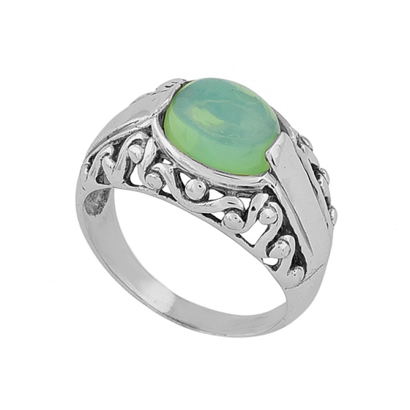 Oval Shape Opal Gemstone 925 Sterling Silver Gold Plated Ring Jewelry
