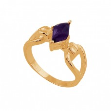Marquise Shape Amethyst Gemstone 925 Sterling Silver Ring Jewelry