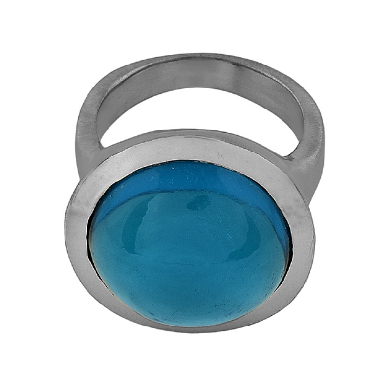 925 Sterling Silver Apatite Quartz Gemstone Gold Plated Designer Ring
