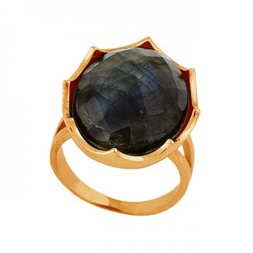Oval Shape Labradorite Gemstone 925 Sterling Silver Designer Ring Jewelry