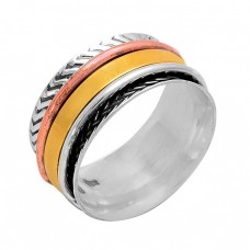 Attractive Plain Handcrafted Designer 925 Sterling Silver Spinner Ring