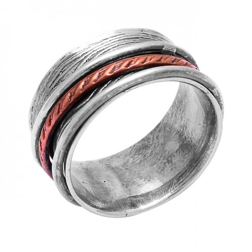 925 Sterling Silver Plain Handcrafted Designer Spinner Ring Jewelry