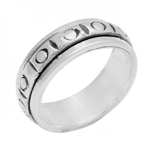 925 Sterling Silver Plain Stylish Handcrafted Designer Ring Jewelry