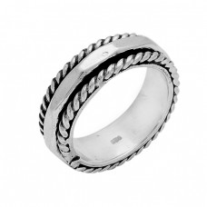 Handcrafted Plain Designer 925 Sterling Silver Ring Jewelry