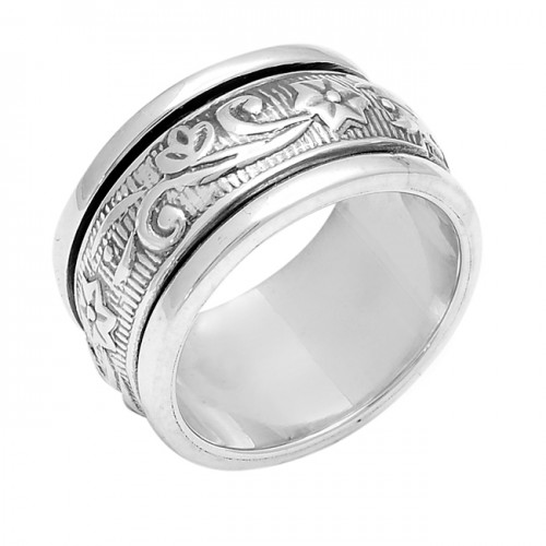 New Stylish Plain Designer 925 Sterling Solid Silver Ring Jewelry