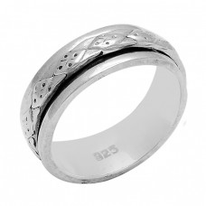 Attractive Plain Designer 925 Sterling Solid Silver Ring Jewelry