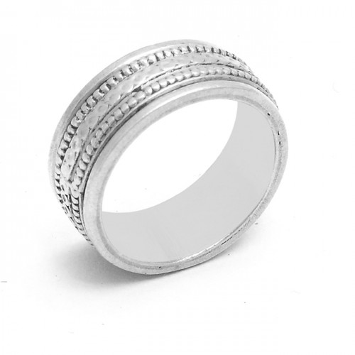 Vintage Look Designer Plain 925 Sterling Silver Ring Jewelry