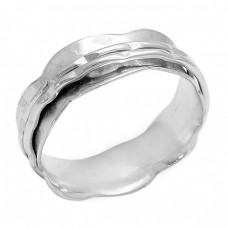 Plain Handcrafted Designer 925 Sterling Silver Spinner Ring Jewerly