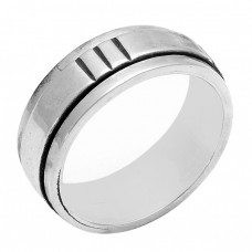 Plain Handmade Designer 925 Sterling Solid Silver Ring Jewelry