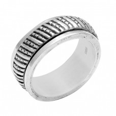 Handcrafted Designer Plain 925 Sterling Silver Ring Jewellery