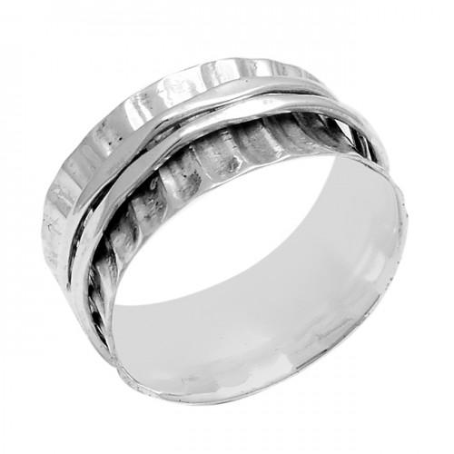 Latest Plain Designer 925 Sterling Silver Spinner Ring Jewellery