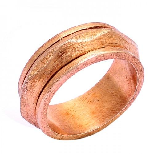 Fashionable Plain Handmade Designer 925 Sterling Silver Gold Plated Ring
