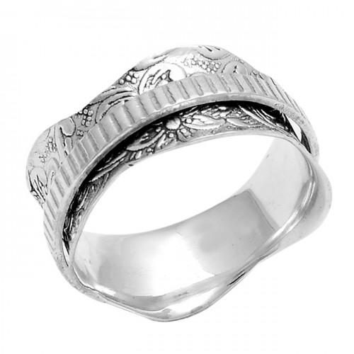 925 Sterling Silver Plain Handmade Designer Spinner Ring Jewellery