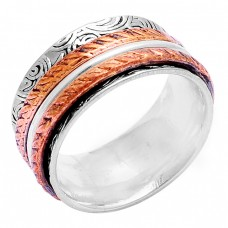 925 Sterling Silver Plain Handcrafted Designer Spinner Ring Jewellery