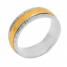 Plain Designer 925 Sterling Solid Silver Gold Plated Ring Jewellery