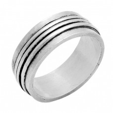 Unique Plain Designer 925 Sterling Solid Silver Ring Jewellery