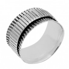 New Stylish Plain Designer 925 Sterling Silver Spinner Ring Jewellery
