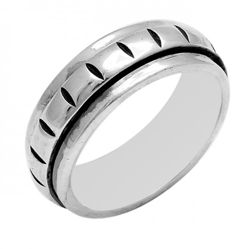 925 Sterling Silver Plain Handcrafted Designer Ring Jewellery