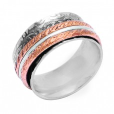 New Fashionable Plain Designer 925 Sterling Solid Silver Spinner Ring Jewellery
