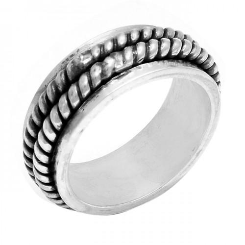 925 Sterling Silver Plain Designer Handmade Ring Jewellery