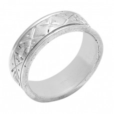 Attractive Plain Designer 925 Sterling Solid Silver Ring Jewellery