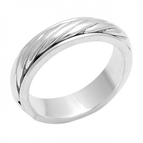 925 Sterling Silver Plain Handcrafted Designer Unique Ring Jewellery