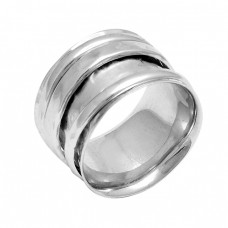 Stylish Plain Designer 925 Sterling Solid Silver Spinner Ring Jewellery