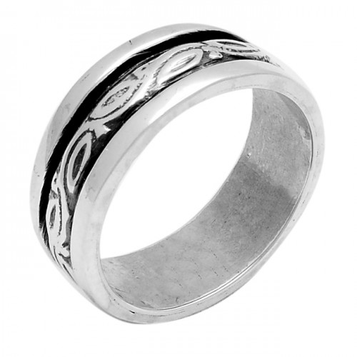 Handcrafted Plain Designer 925 Sterling Solid Silver Ring Jewellery
